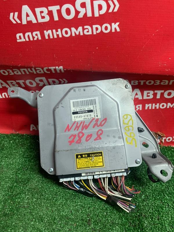 Блок управления abs Toyota Prius NHW20 1NZ-FXE 02.2005 89540-47070