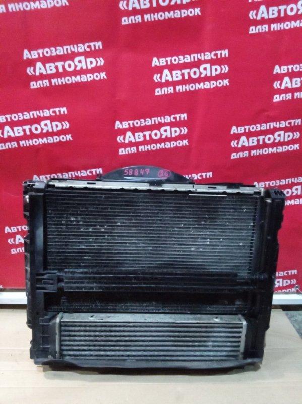 Радиатор основной Bmw 335I E91 N54B30A 11.2006 кассета в сборе: интеркулер, радиаторы- двс,