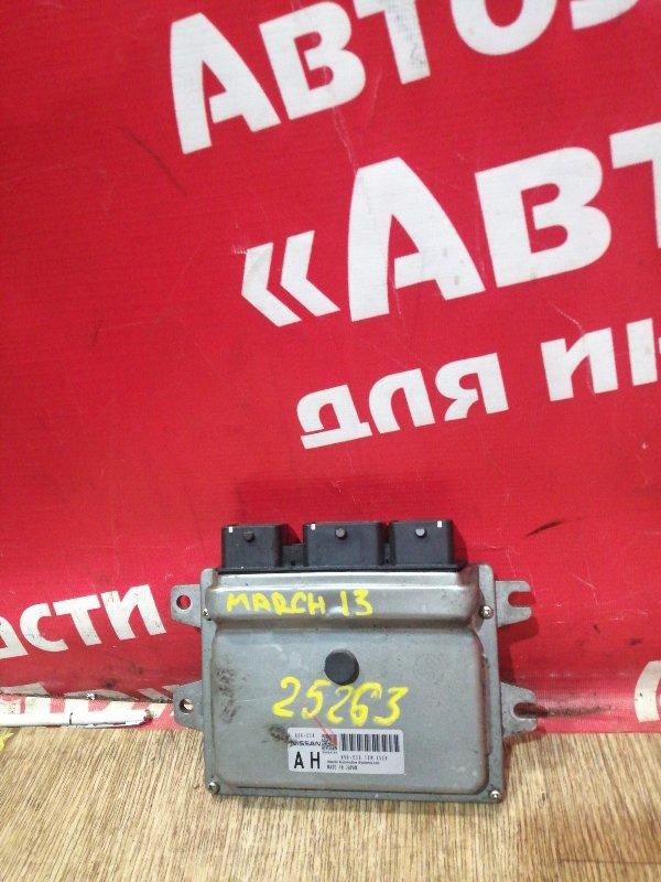 Блок управления efi Nissan March K13 HR12DE 2011 A56-E38 T5W1526