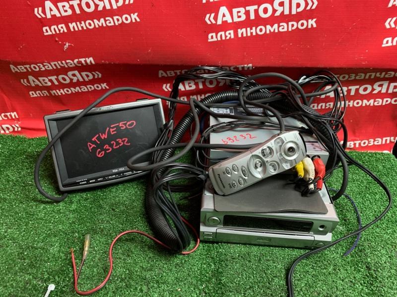 Магнитола Nissan Elgrand ATWE50 ZD30DDTI 10.1999 DVP-2002 + телевизор + проводка