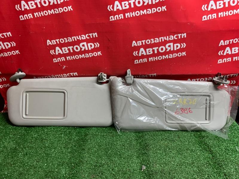 Солнцезащитный козырек Toyota Voxy ZRR70G 3ZR-FE 11.2007 комплект 2шт