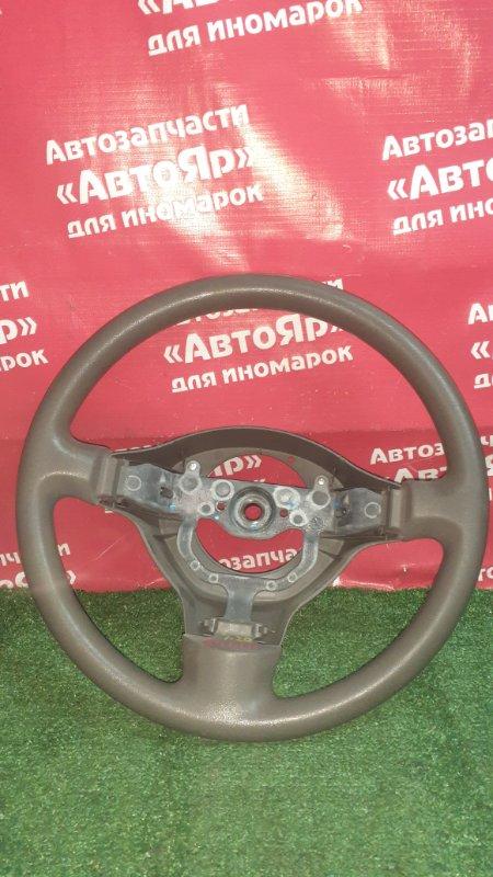 Руль Toyota Platz NCP12 1NZ-FE 2005 коричневый