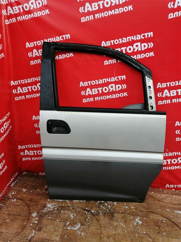 Стекло боковое Mitsubishi Delica Space Gear PD8W 4M40-T 07.1997 переднее правое