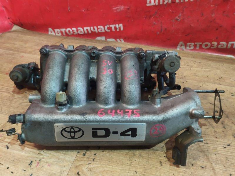 Коллектор впускной Toyota Vista Ardeo SV50G 3S-FSE 06.2000 17101-74370, с клапаном холостого хода, клапан
