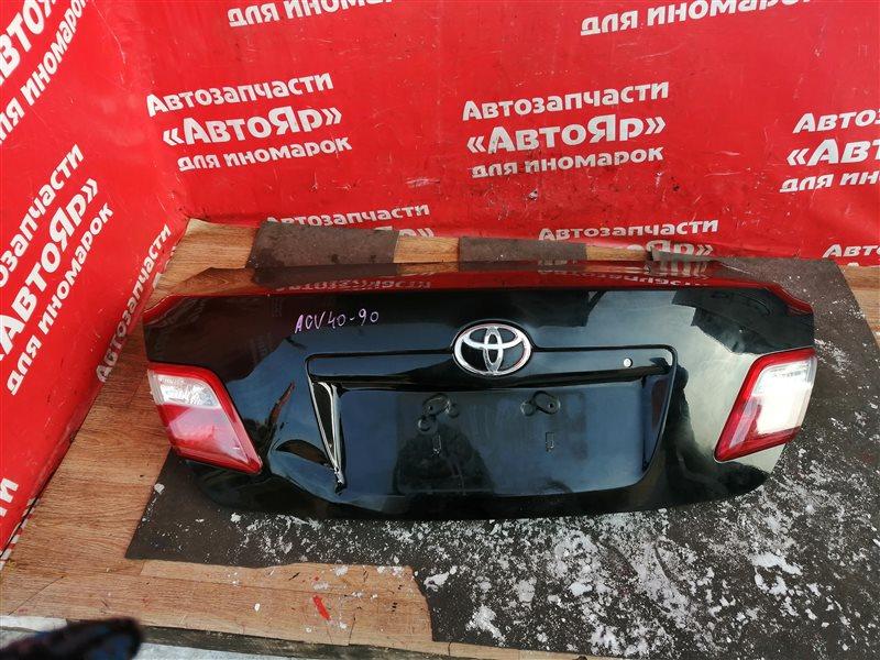 Крышка багажника Toyota Camry ACV40 2AZ-FE 03.2006 Вмятина.