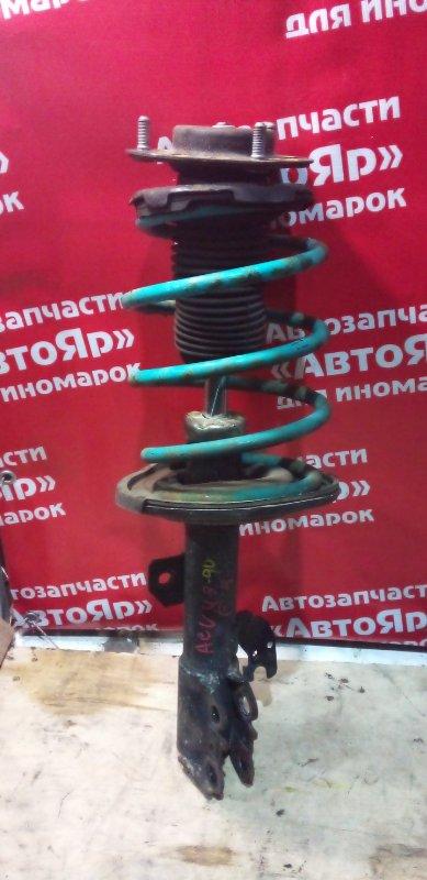 Стойка подвески Toyota Camry ACV40 2AZ-FE 03.2006 передняя правая пружина синяя. цена за штуку,
