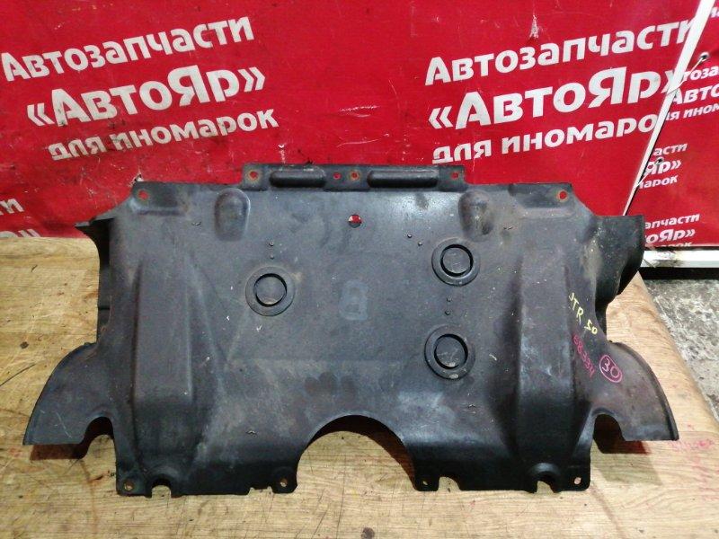 Защита двигателя Nissan Terrano Regulus JTR50 ZD30DDTI 10.1999 центральная. дефект 1го крепления
