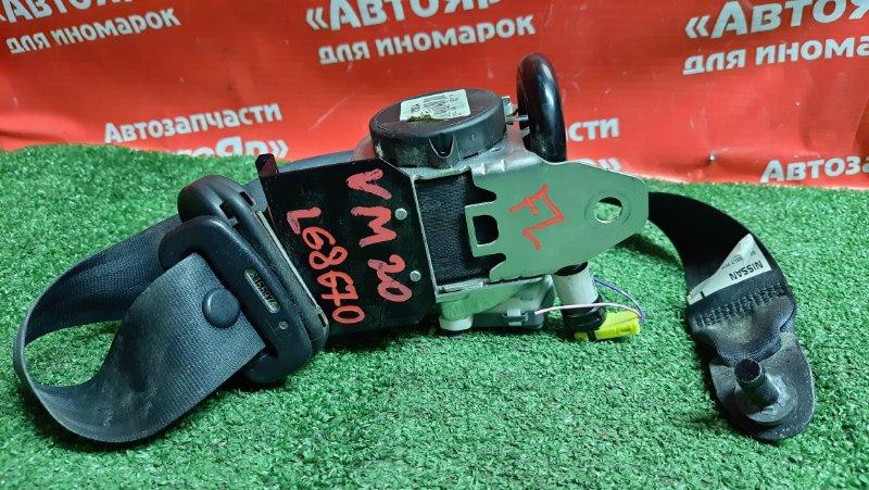 Ремень безопасности Nissan Nv200 VM20 HR16DE 10.2009 передний левый с зарядом, черный