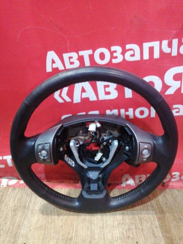 Руль Toyota Rav4 ACA31W 2AZ-FE 01.2006 кожанный. мультируль. состояние на фото