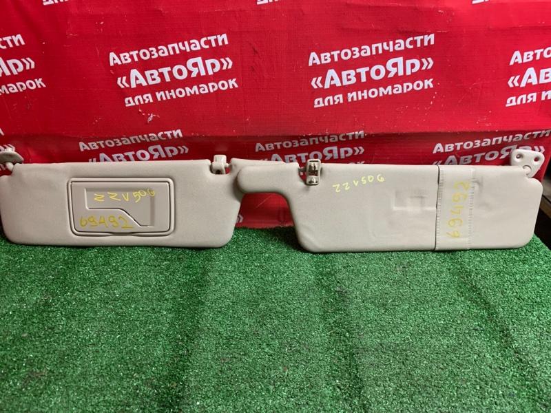 Солнцезащитный козырек Toyota Vista Ardeo ZZV50G 1ZZ-FE 04.2002 комплект 2шт, бежевый