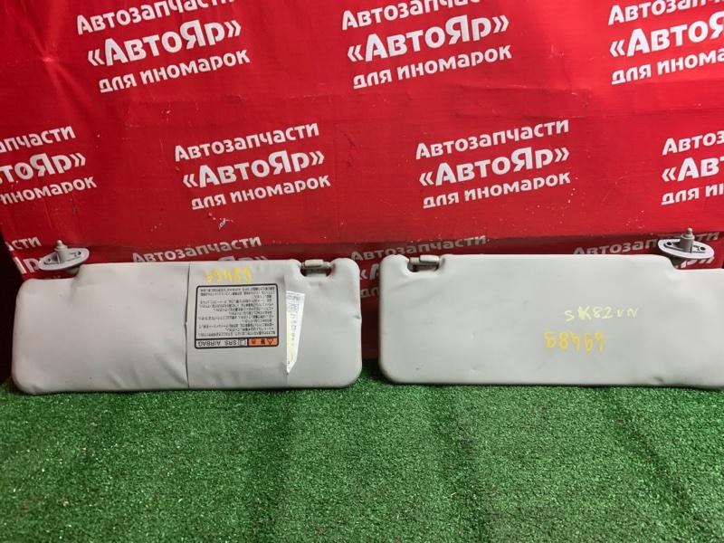 Солнцезащитный козырек Nissan Vanette SK82VN F8 05.2005 комплект 2шт, серый, состояние на фото