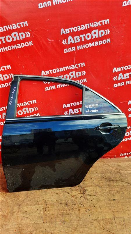 Дверь боковая Toyota Camry ACV40 2AZ-FE 03.2006 задняя левая в сборе без петель