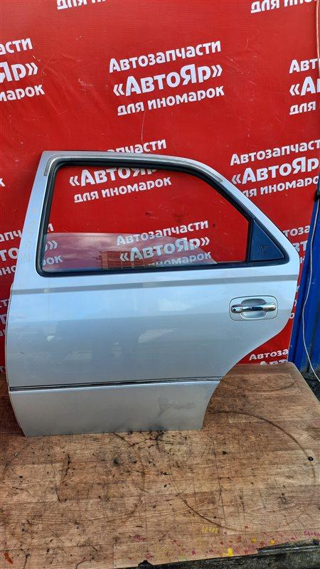 Дверь боковая Toyota Vista Ardeo ZZV50G 1ZZ-FE 04.2002 задняя левая В сборе без петель