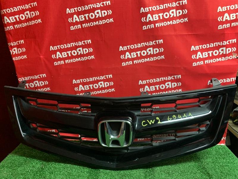 Решетка радиатора Honda Accord CU2 K24A 2008 трещинка на одном ушке
