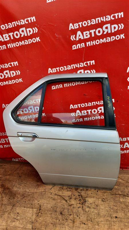 Дверь боковая Nissan Bluebird HU14 SR20DE 02.1999 задняя правая В сборе без петель