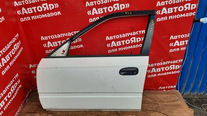 Дверь боковая Honda Partner EY6 D13B 2001 передняя левая В сборе без петель