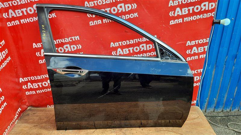 Дверь боковая Honda Accord CU2 K24A 2008 передняя правая в сборе без блока упр. стеклопод. и петель,