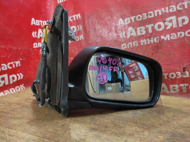 Зеркало Nissan Bluebird HU14 SR20DE 02.1999 переднее правое 5 конт. дефект фишки