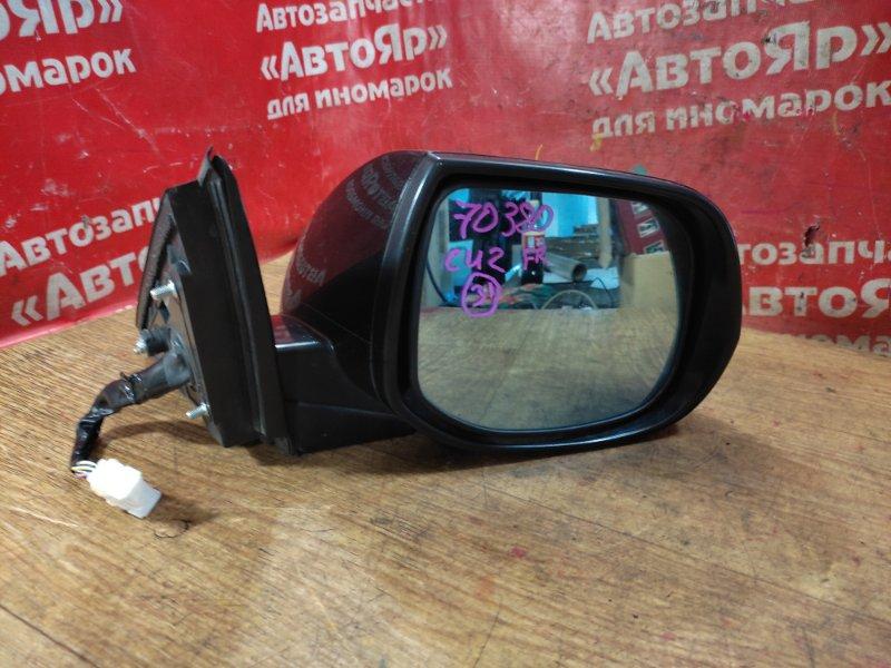 Зеркало Honda Accord CU2 K24A 2008 переднее правое 2 фишки, 8 конт