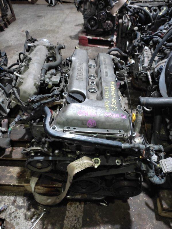 Двигатель Nissan Bluebird HU14 SR20DE 02.1999 Пробег 73т.км., цена указана без навесного
