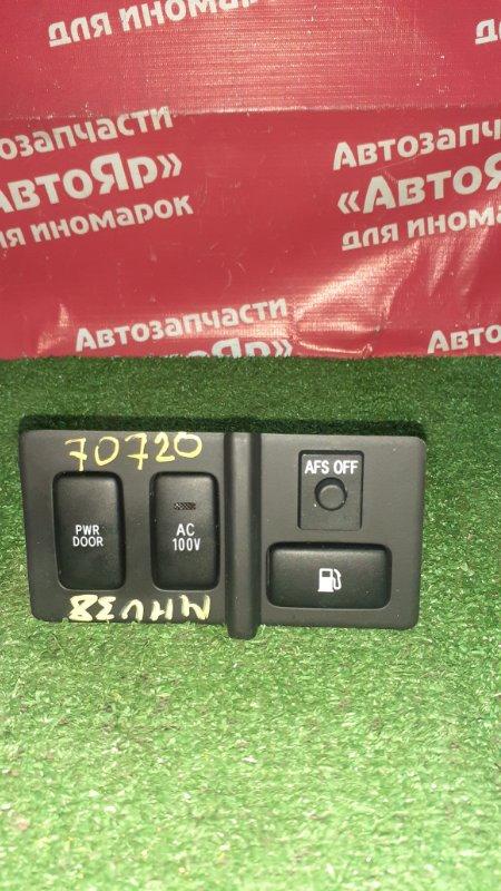 Кнопки в салон Toyota Harrier MHU38W 3MZ-FE 06.2006 топл. бак, PWR Door, AC 100V, AFS off, 4 кнопки.