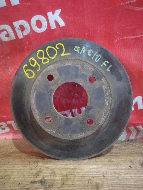 Диск тормозной Nissan Bluebird Sylphy QNG10 QG18DE 02.2004 передний левый Износ с одной стороны.