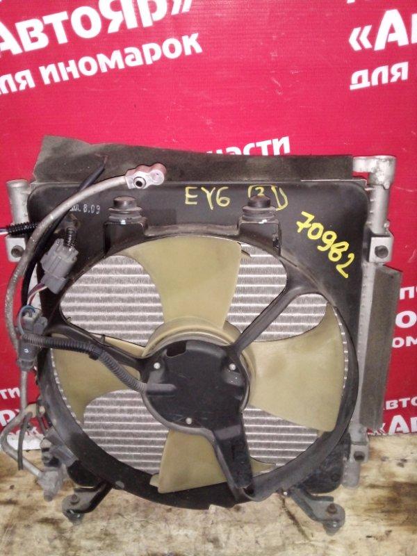 Радиатор кондиционера Honda Partner EY6 D13B 2001 с диффузором