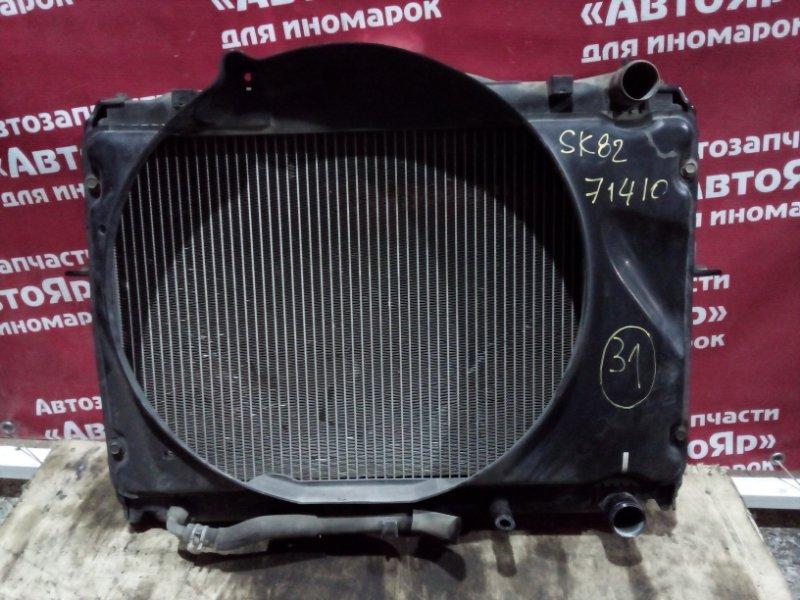 Радиатор основной Nissan Vanette SK82VN F8 05.2005 В сборе с диффузором.