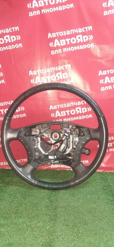 Руль Toyota Alphard ATH10W 2AZ-FXE 04.2004 Мульти, кожа, косточка, круиз, состояние на фото