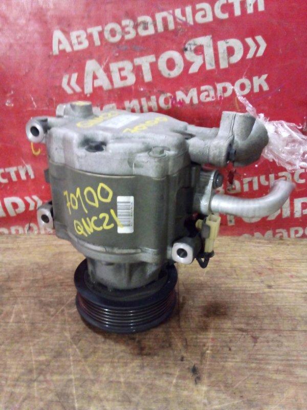 Компрессор кондиционера Toyota Bb QNC21 3SZ-VE 2010 88320-B1010