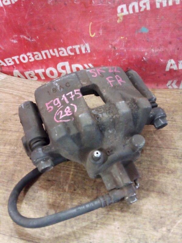 Суппорт тормозной Mazda Bongo SK22V R2 07.1999 передний правый