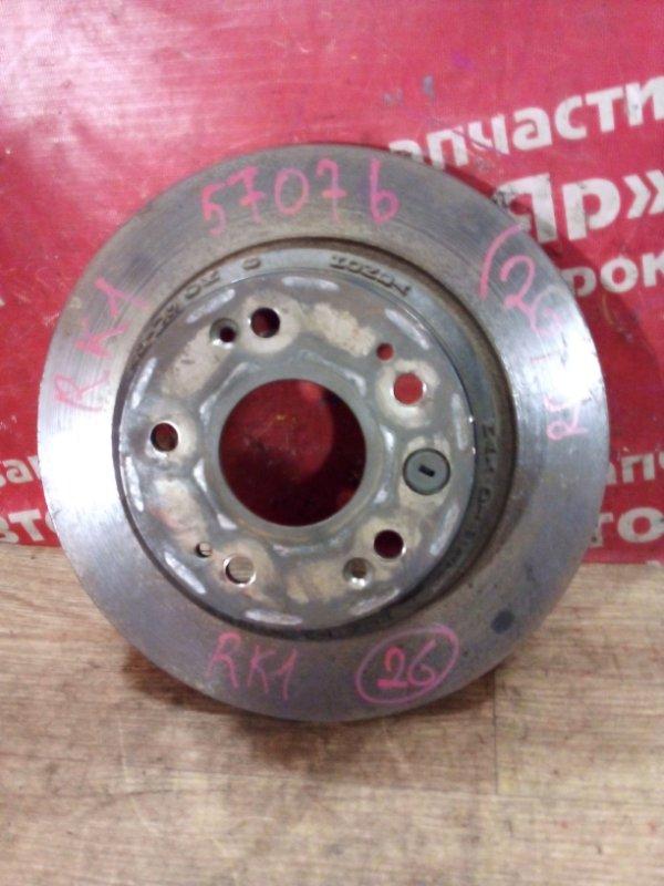 Диск тормозной Honda Stepwgn RK1 R20A 07.2010 задний правый