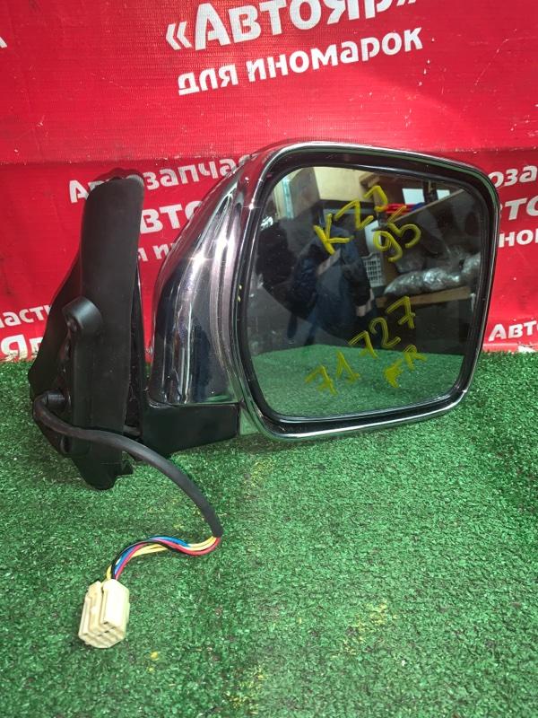Зеркало Toyota Land Cruiser Prado KZJ95 1KZ-TE 1998 правое хром, не оригинал, левый руль, 5 контактов,