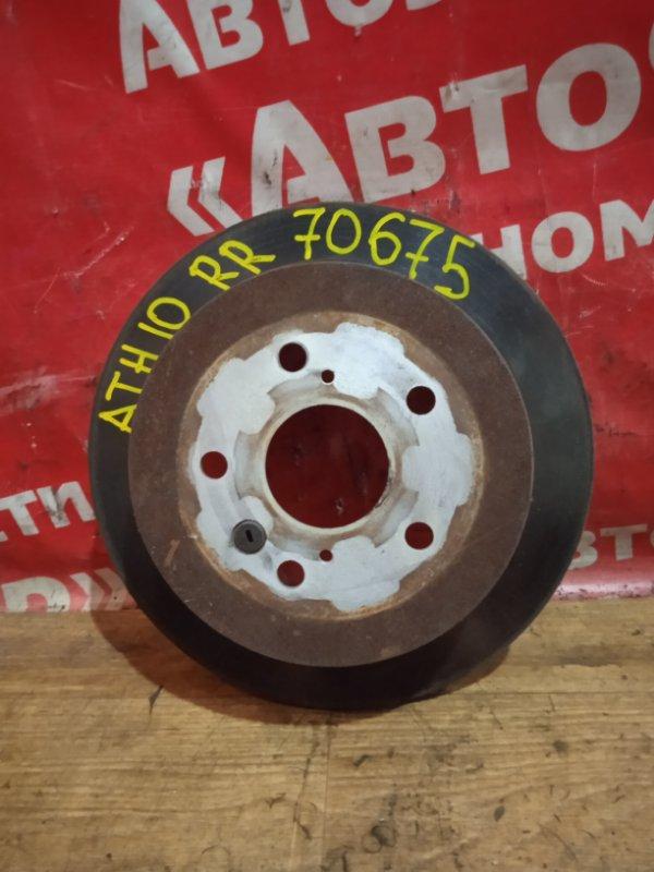 Диск тормозной Toyota Alphard ATH10W 2AZ-FXE 04.2004 задний правый