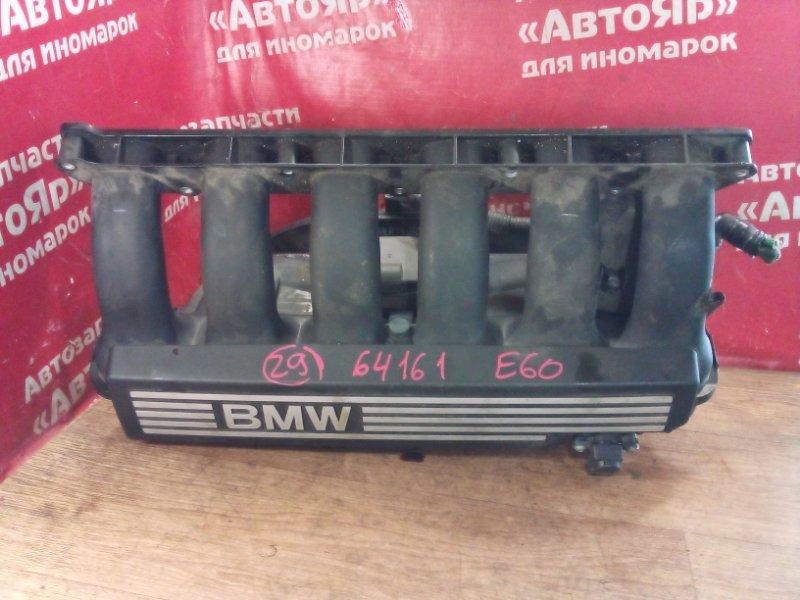 Коллектор впускной Bmw 530I E60 N52B30A 03.2005 с датчиками Disa, 11617560538, 11617579114.
