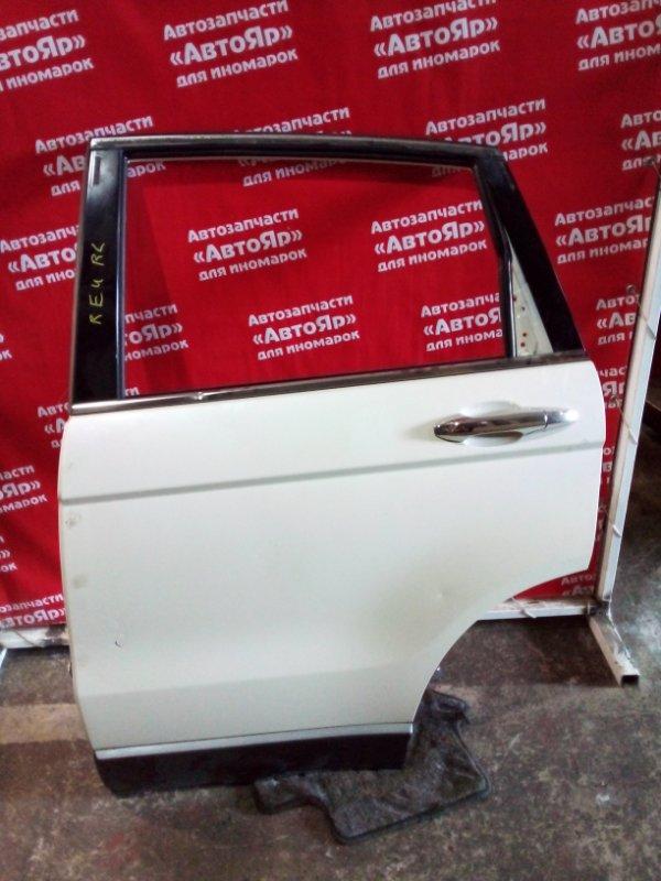 Дверь боковая Honda Cr-V RE4 K24A 2007 задняя левая в сборе без стекла, код краски NH624P.