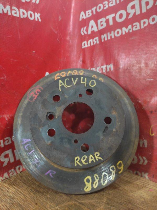 Диск тормозной Toyota Camry ACV40 2AZ-FE 10.2006 задний правый