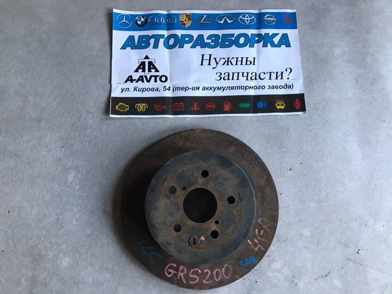 Диск тормозной Toyota Crown Majesta GRS181 4GRFSE задний