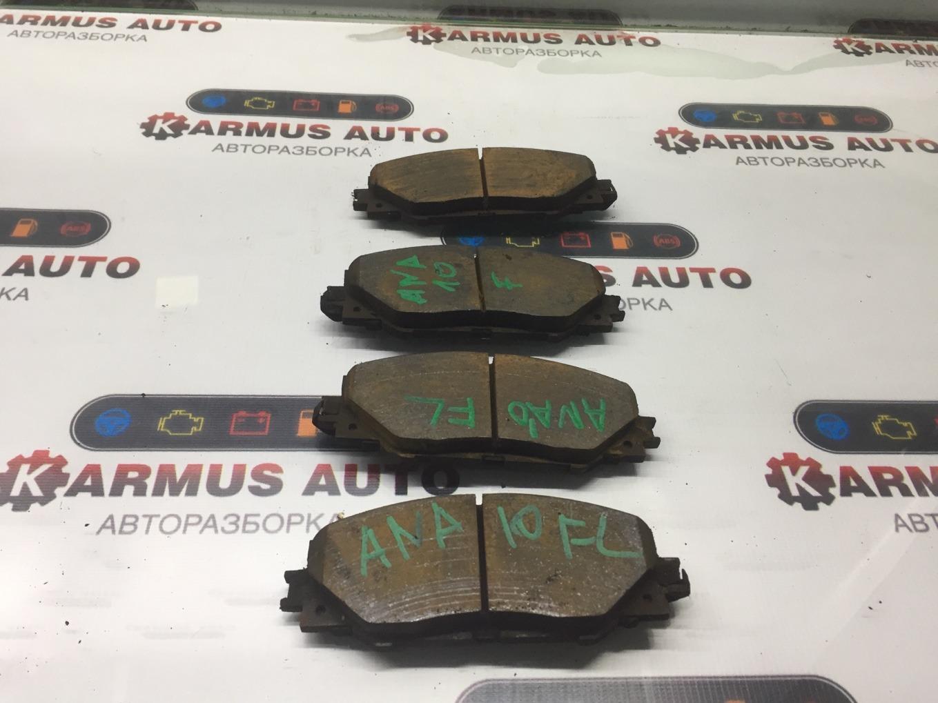 Колодки тормозные Toyota Mark X Zio ANA10 2AZFE передние