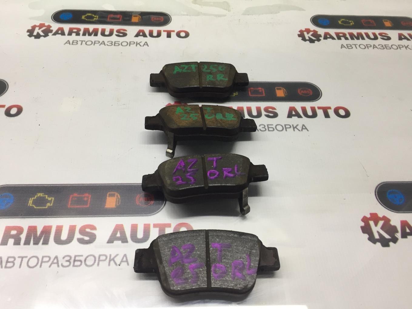Колодки тормозные Toyota Avensis AZT250 1AZFSE задние