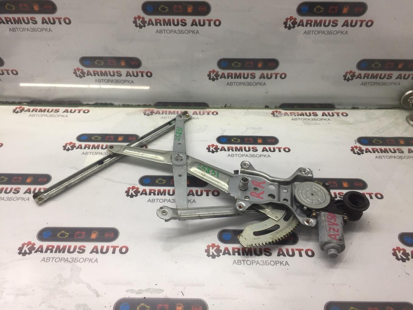 Стеклоподъемный механизм Toyota Vista Ardeo AZV50 1AZFSE задний правый