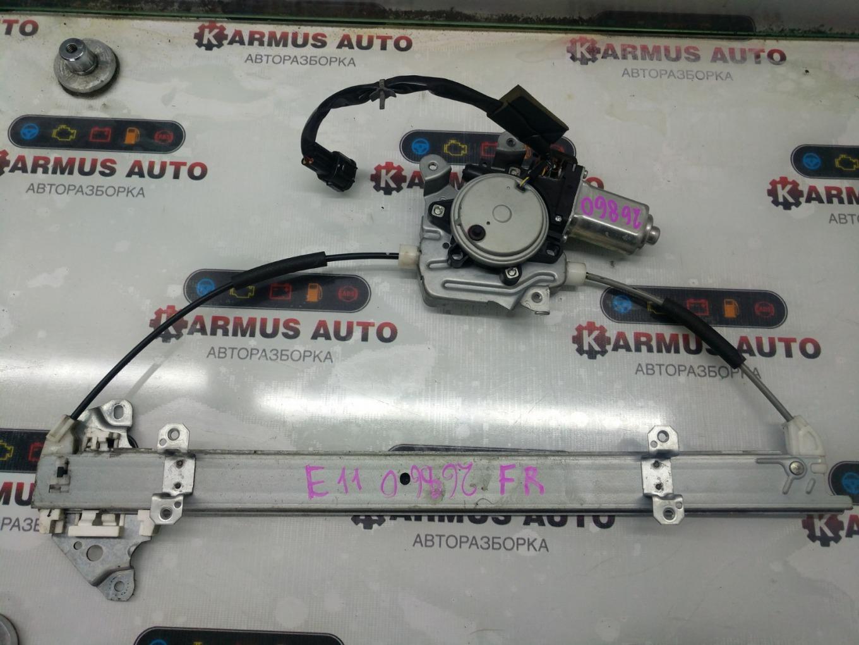 Стеклоподъемный механизм Nissan Note E11 HR15DE передний правый