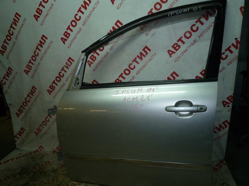 Дверь Toyota Ipsum ACM21W, ACM26W 2AZ 2003 передняя левая