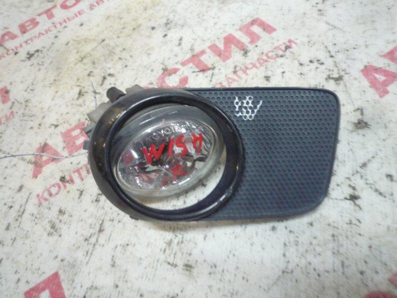 Туманка Toyota Wish ZNE14G, ANE10G, ANE11W, ZNE10G 1ZZ 2003 правая