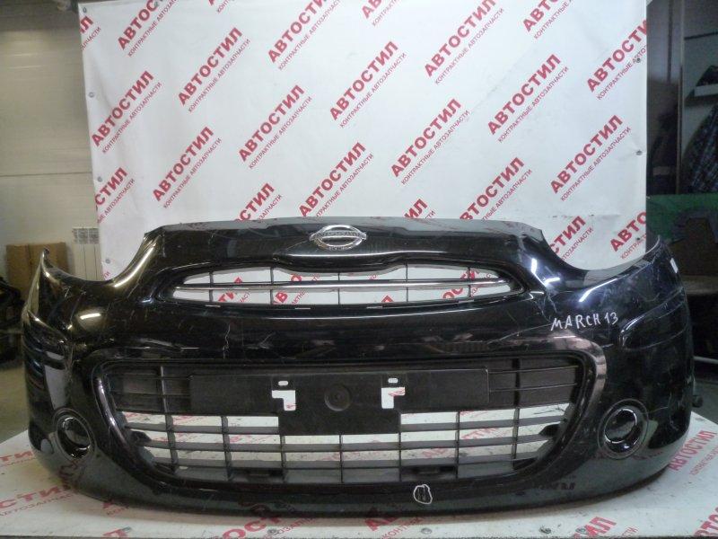 Бампер Nissan March K13, NK13 HR12 2012 передний