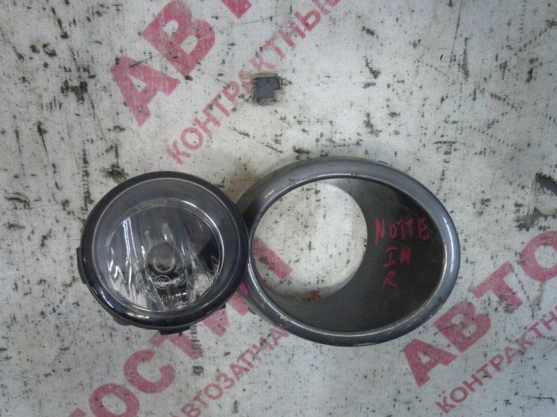 Туманка Nissan Note ZE11, E11, NE11 HR15 2008 правая