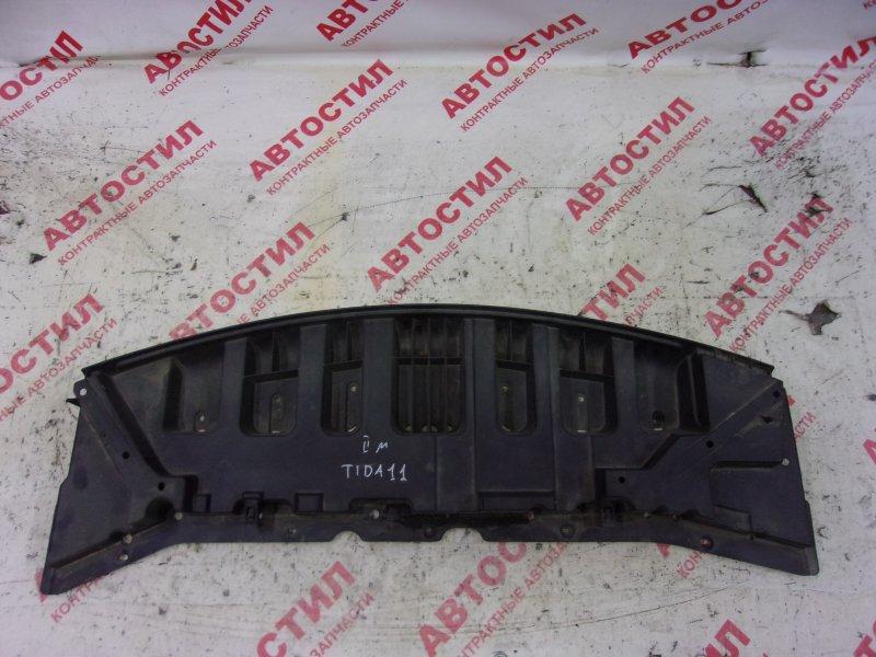 Защита двс пластик Nissan Tiida JC11, C11, NC11,SC11, SJC11, SNC11 HR15 2009 передняя