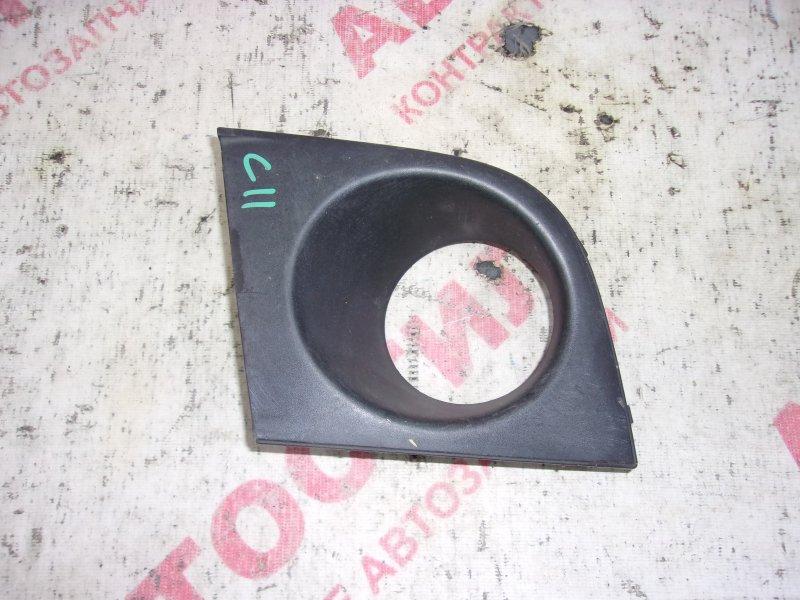 Заглушка бампера Nissan Tiida JC11, C11, NC11,SC11, SJC11, SNC11 HR15 2005 передняя левая