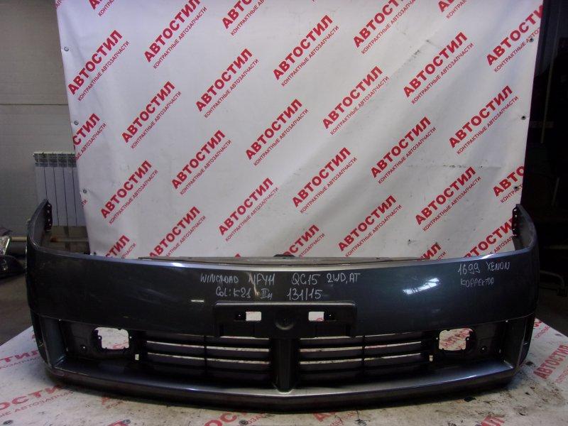 Бампер Nissan Wingroad WFY11, WHNY11, WHY11, WPY11,WRY11 QG18 2003 передний