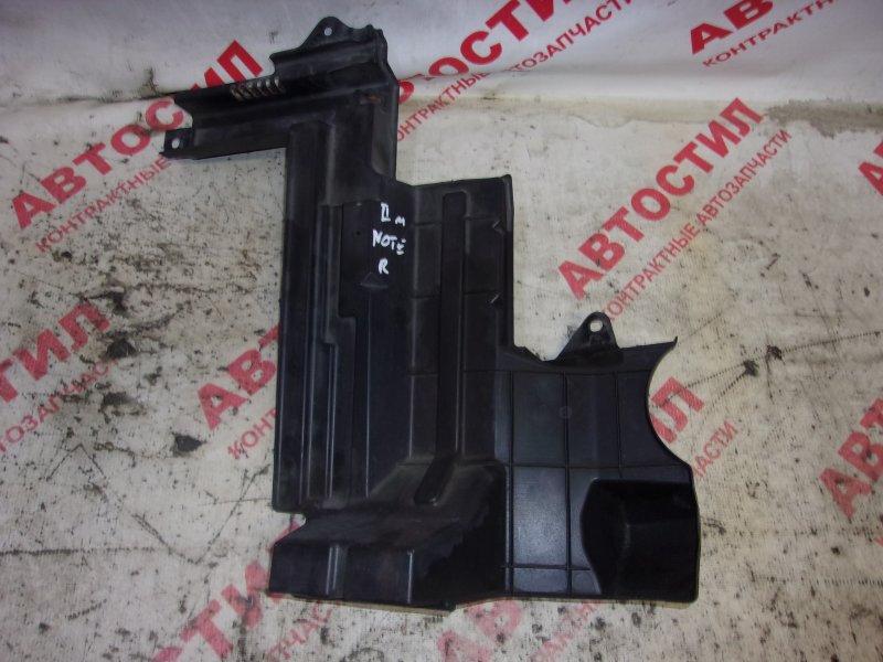 Дефлектор радиатора Nissan Note ZE11, E11, NE11 HR15 2009 передний правый